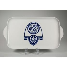 Bandeja Porcelana rectangular mod Celta Cigarron Gracia 40 cm largo