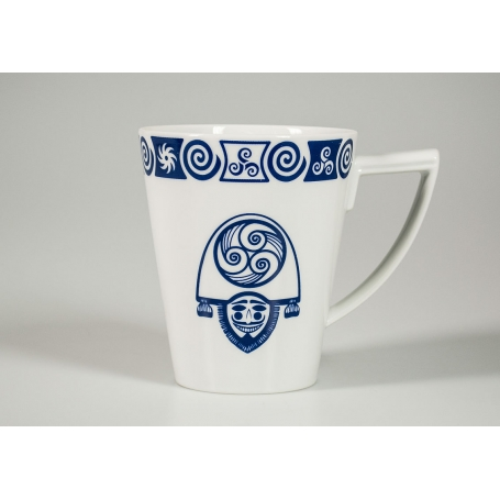 Taza mug de Porcelana modelo Celta Cigarron Volare 0,4 litros