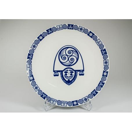 Plato Porcelana redondo Cigarron celta coupe