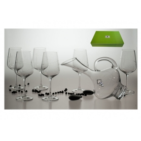 Ultima 450 wine set. 6 glasses and decanter (203 engraving)