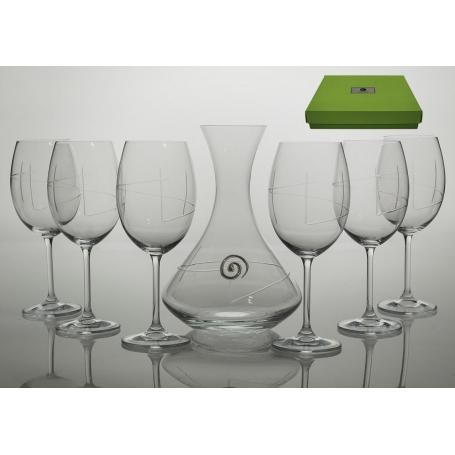 Copas de vino y decantador modelo Gastro espiral SET
