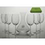 Gastro 590 wine set. 6 glasses and decanter 31A09 (oetals engraving)