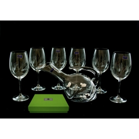 Gastro 590 wine set. 6 glasses and decanter 38683 (petals engraving)