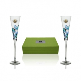 Milano Galeria champagne flutes for wedding or anniverary gift