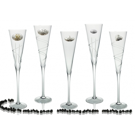 Radu champagne flutes for wedding or anniversary gift