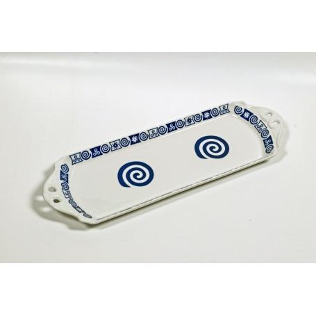 Bandeja Brazo Gitano  celta azul/blanco