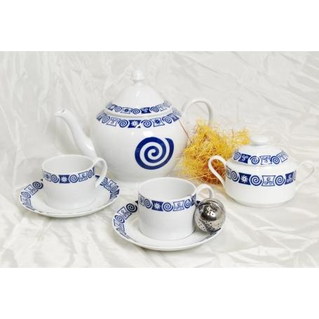 Four-piece tea set. Pombal desing, Celta collection.