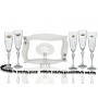 Elisabeth champagne flutes and Rialto tray for wedding/anniversary gift