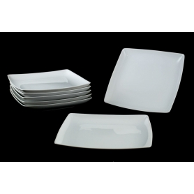 Rectangular appetizers plate. White collection.