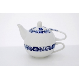 Tea cup and fitted teapot. Valle design, Celta collection.