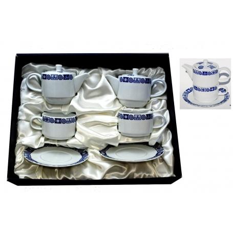 Set de dos tazas con teteras y plato col. Celta