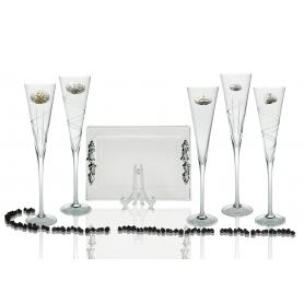 Radu champagne flutes and Rialto tray for wedding/anniversary gift