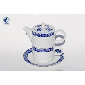 Tetera, taza y plato recta col. Celta