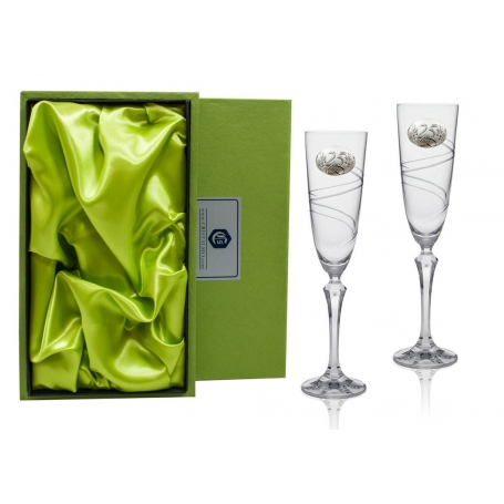 Elisabeth champagne flutes for wedding/anniversary gift