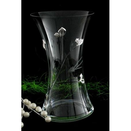 Bohemian glass vase 82570 (petals engraving)