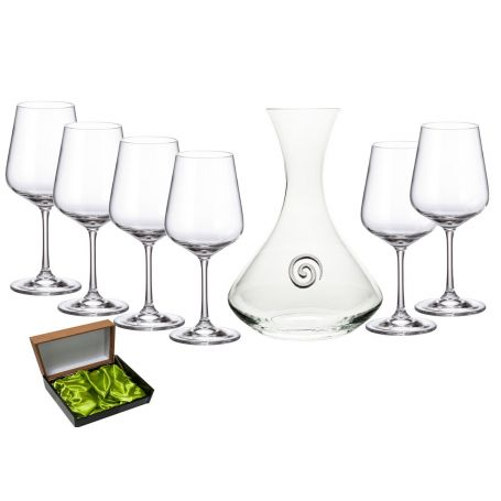 Ultima 450 wine set. 6 glasses and decanter