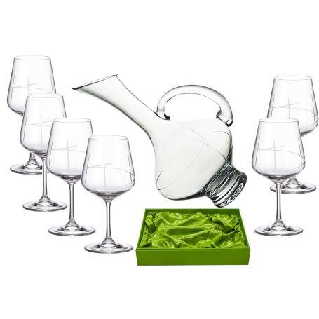 Juego de vino Ultima 450, 6 copas con decantadora 2610 (talla 203)