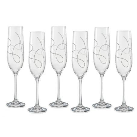 Bohemian champagne flute glass Barbelina 230