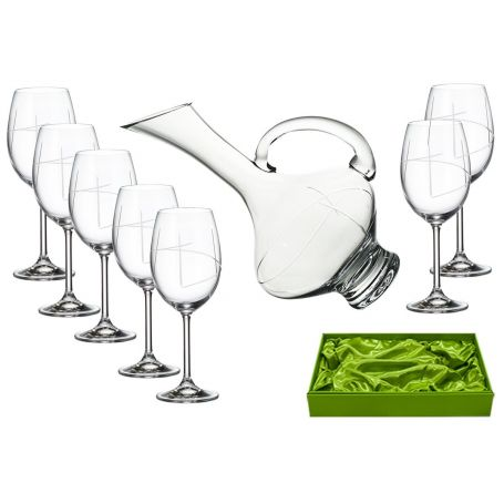 Gastro 590 wine set. 6 glasses and decanter 2610 (203 engraving)