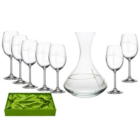 Gastro 590 wine set. 6 glasses and decanter 31AA09 (203 engraving)