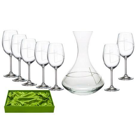 Juego de Vino Gastro 590, 6 copas con decantadora 31AA09 (talla 203) Set