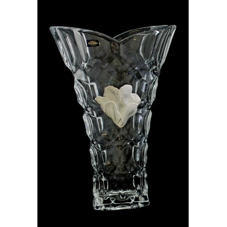 Bohemian glass Honey Comb vase