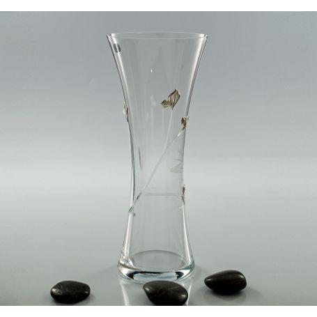 Bohemian glass Inspiration vase (petals engraving)