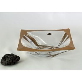 Quadron gold centrepiece. Bohemian Glass