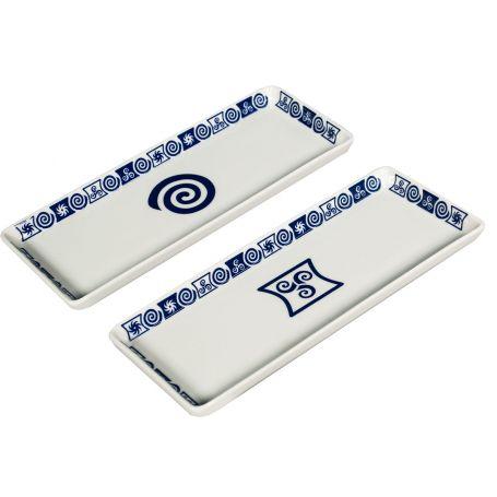 Bandeja para servir aperitivos rectangular de porcelana 24x10x1,5 cm