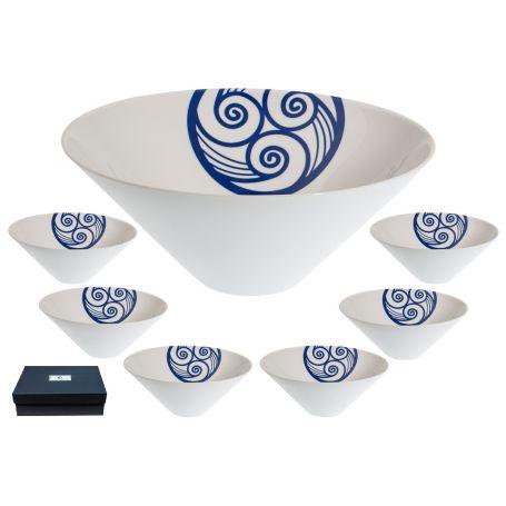 Cuenco triangular porcelana para aperitivos Celta (9 cm)
