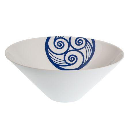 Cuenco grande para macedonia o ensaladera de porcelana mod Lua Africa