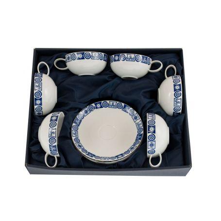 Juego de té de 6 piezas de porcelana Domo Celta