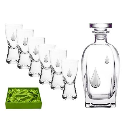 Juego de licor 6 servicios chupitos Samba y botella Rosini 7 Gotas