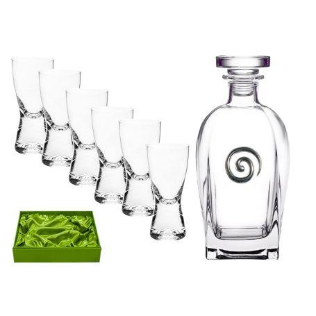 Juego de licor 6 servicios chupitos Samba y botella Rosini Spiral