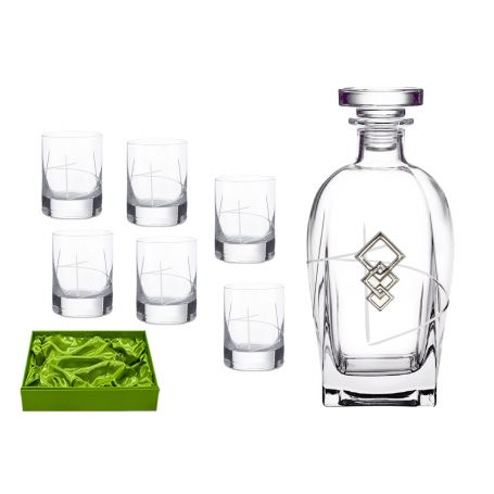 Liquor set. Rossini bottle and Ideal shot glass (203).