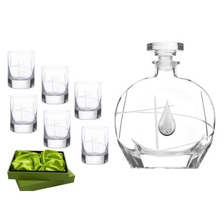 Liquor set. Puccini bottle and Ideal shot glass (203)