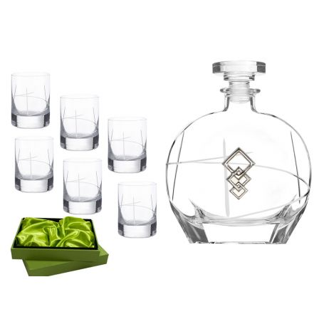 Liquor set. Puccini bottle and Ideal shot glass (203)
