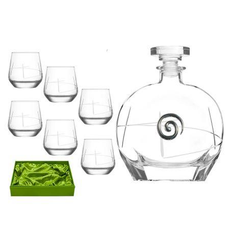 Liquor set. Puccini bottle and Alma shot glass (203 engraving)