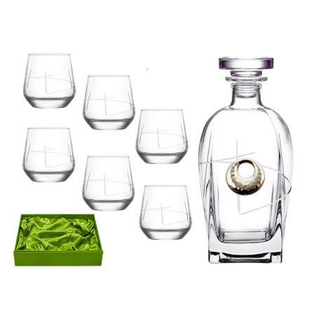 Liquor set. Rossini bottle and Alma shot glass (203)