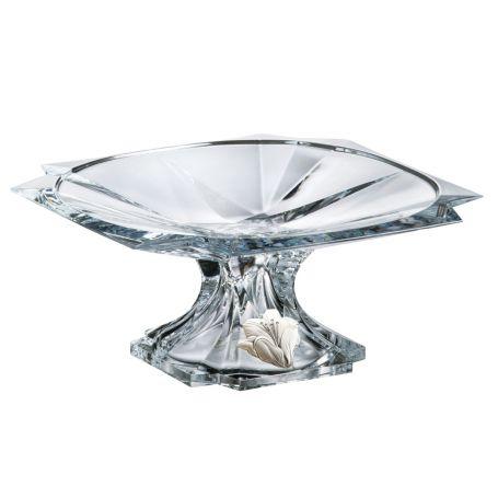Centro tarta con base cristal bohemia Metropolitan 13 cm alto ø 30 cm