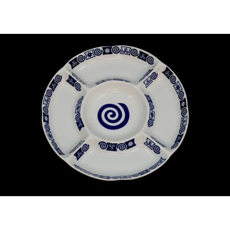 Bandeja de porcelana para entremeses modelo Gracia Celta ø 28 cm