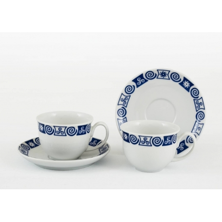 Taza y plato de porcelana para Té Moments Celta