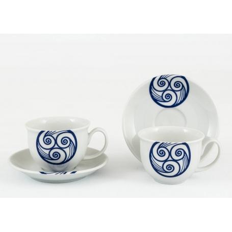 Taza y plato de porcelana para Té Moments Lua