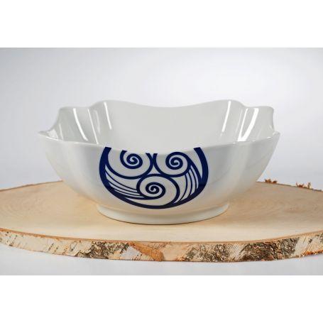 Centro o ensaladera de porcelana VA colección Lua  24 x 24 x 10