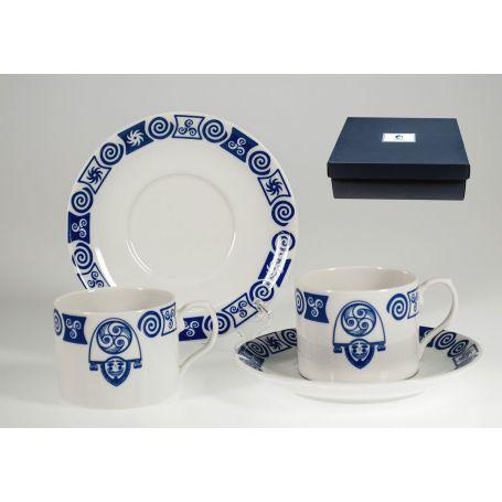 Juego porcelana 6 tazas para té modelo Cigarron Pombal