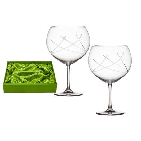 Juego 2 copas cristal talladas para Gin Tonic 990 ml E5