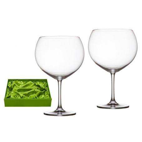 Juego 2 copas cristal Bohemia para Gin Tonic 990 ml lisas