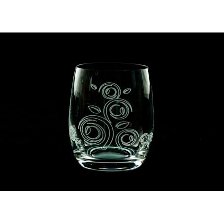Vasos agua y whisky bohemia Círculos Viola