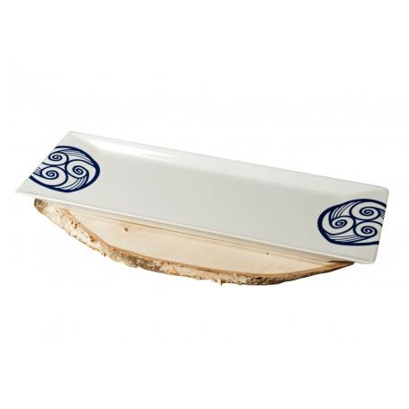 Bandeja Brazo Gitano porcelana Gallega Torto Lua 46 x 15 cm