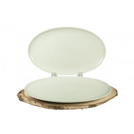 Bandeja para Servir de porcelana blanca Coupe 39cm
